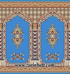 سجاده فرش 500 و 700 شانه رنگ آبی